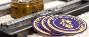 Rosettes - gold or silver foil printing